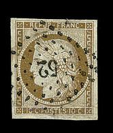 O N°1 - 10c Bistre - Obl. PC 52 - Signé - TB/SUP - 1849-1850 Ceres