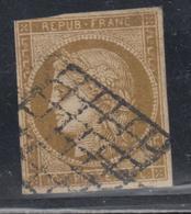 O N°1a - 3 Marges - La 4ème Au Filet - Nuance Foncée - B/TB - 1849-1850 Ceres