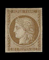 * N°1f - 10c Bistre - Réimpression - Signé Darteyre - TB - 1849-1850 Ceres