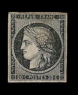 * N°3 - 20c Noir - Impression Déféctueuse - Gomme Brunâtre - TB - 1849-1850 Ceres