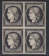 (**) N°3 - Bloc De 4 - 2 Ex * - TB - 1849-1850 Ceres