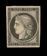 * N°3f - Réimpression Du 20c Noir - TB - 1849-1850 Ceres
