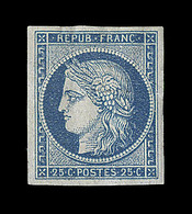 * N°4 - 25c Bleu - Signé Calves Et Brun - TB - 1849-1850 Ceres