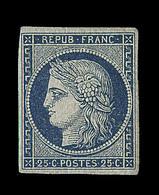 * N°4 - 25c Bleu - Marges Régulières - Signé Thiaude + Certificat Weid - TB - 1849-1850 Ceres
