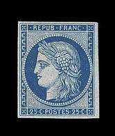 * N°4d - 25c Bleu - Réimpression - TB - 1849-1850 Ceres