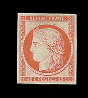 (*) N°5 - 40c Orange - Signé - TB - 1849-1850 Ceres