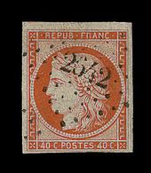 O N°5 - 40c Orange - Obl. PC 2642 - Signé A. Brun - TB - 1849-1850 Ceres