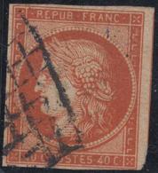 O N°5a - 40c Orange Foncé - Belle Couleur - 1 Filet Biseau - Sinon TB - Signé JF Brun - 1849-1850 Ceres