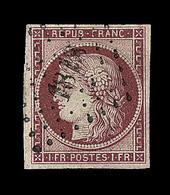 O N°6 - Obl. PC 1818 - Signé Calves - TB - 1849-1850 Ceres