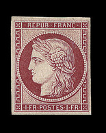 * N°6f - 1F Carmin - Réimpression - TB - 1849-1850 Ceres