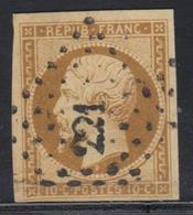 O N°9 - Obl. PC 221 - Déft - Asp. TB - 1852 Louis-Napoleon