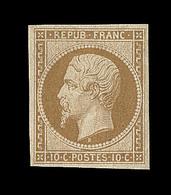 * N°9e - Réimpression Du 10c Bistre Jaune - TB - 1852 Louis-Napoleon