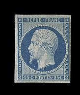 * N°10 - 25c Bleu - Signé Calves - TB - 1852 Louis-Napoleon