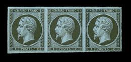 ** N°11 - Bde De 3 - Signé Calves - TB - 1853-1860 Napoleon III