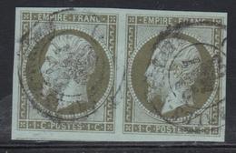 O N°11 - Paire - Obl. Càd - TB/SUP - 1853-1860 Napoleon III