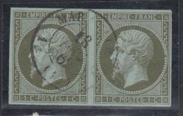O N°11 - Paire - Obl. Càd Léger - TB - 1853-1860 Napoleon III