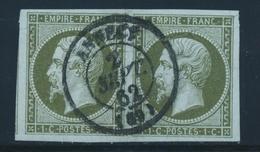 O N°11 - Paire - Margé - Càd Central - TB - 1853-1860 Napoleon III