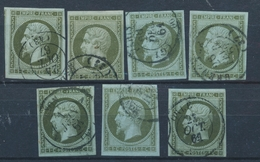O N°11 X 7 Ex - Belle Oblit. - Nuances Diff. - TB - 1853-1860 Napoleon III
