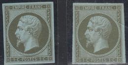 (*) N°11 X 2 Ex - Nuances - Marges - B/TB - 1853-1860 Napoleon III
