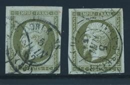 O N°11 X 2 Ex - TB - 1853-1860 Napoleon III