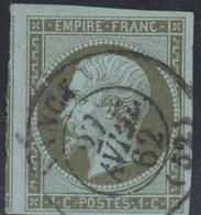 O N°11 - Obl. Càd T15 + Filet Voisin - TB/SUP - 1853-1860 Napoleon III