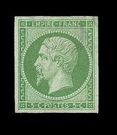 * N°12 - 5c Vert - Léger Clair En Marge - Asp. TB - 1853-1860 Napoleon III