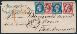 """L N°14A (x2) - 17B (x2) Rose Vif - Obl Bur - """"G"""" = PARIS - Oct 62 Pr ROME (Italie) - B/TB - Postmark Collection (Covers)"""