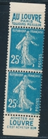 ** N°140 - Paire Vertic. De Carnet LOUVRE - TB - 1906-38 Sower - Cameo