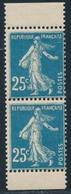 ** N°140f - Paire Vertic. De Carnet - TB/SUP - 1906-38 Sower - Cameo