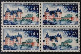 ** N°1313a - Château Blanc Ds Bloc De 4 - TB - Errors & Oddities