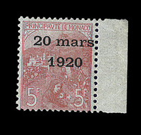 ** N°43 - 5F+5F - Mariage - Pièce De Luxe - Certif Calves + Certif. Scheller - TB - Monaco