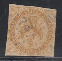 "O N°3 - 10c Bistre - Obl. ""ASI"" Côte D'Ivoire - Défx - Eagle And Crown"