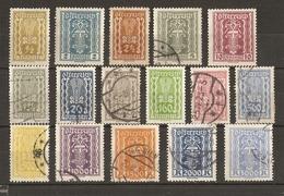 Autriche - 1922/24 - Symboles 1ère République - Petit Lot De 16 Timbres MH/° - Agriculture - Industrie - Vrac (max 999 Timbres)