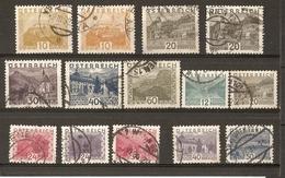 Autriche - 1929/32 - Paysages - Petit Lot De 14 Timbres° - Vrac (max 999 Timbres)