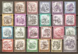 Autriche 1973/82 - PAYSAGES - Petit Lot De 24 Timbres° - Vrac (max 999 Timbres)