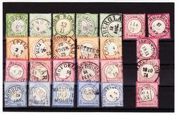 O N°14/17 + 22 - Chaque X 5 - Etats Divers - Intéressant Pr Oblit. - à Voir - Used Stamps