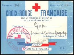 4009 Lettre France Guerre War 1939/1945 Croix Rouge (red Cross) Gap 1941 - Marcofilie (Brieven)