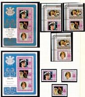 Niue 1982 Princess Of Wales Birthday + Birth Of William Sets + Minisheets MNH - Niue