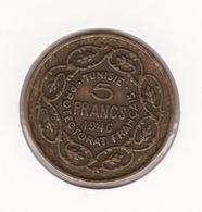 TUNISIE 5Frs 1946  P20 - Colonies