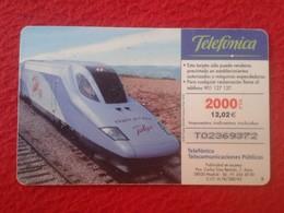 ANTIGUA TARJETA TELEFÓNICA PHONE CARD TALGO 350 TREN TRAIN TRENES TRAINS ESPAÑA SPAIN ESPAGNE VER FOTO/S Y DESCRIPCIÓN - Espagne