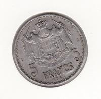 MONACO 5Frs 1945  P22 - 1922-1949 Louis II