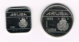 &-  ARUBA  50 CENTS En 1 FLORIN   1991/1992 - [ 4] Colonies