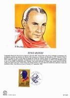 Tino ROSSI - 1er Jour Avec Oblitération Du 16/06/1990 à Ajaccio (304) - Chanteurs