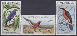 Mali 1960 Tiere Fauna Animals Vögel Birds Oiseaux Pajaro Ave Uccelli, Mi. 3-5 ** - Mali (1959-...)