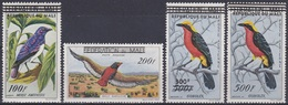 Mali 1960 Tiere Fauna Animals Vögel Birds Oiseaux Pajaro Ave Uccelli Gaukler, Mi. 14-7 ** - Mali (1959-...)