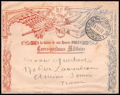 1756 Lettre (cover Briefe) Guerre 1914/1918 Lettre Décorée A La Gloire De Nos Braves Poilus Venise Venezia Italie - Marcophilie (Lettres)