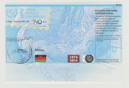 Malawi UPU Union Postale Universelle Doha 140 Ans L'eau Source De Vie Water COUPON-REPONSE INTERNATIONAL IRC IAS CRI - Malawi (1964-...)