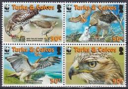 Turks Und Caicos 2007 Tiere Fauna Animals Vögel Birds Oiseaux Pajaro Ave Uccelli Bussard Buzzard WWF, Mi. 1853-6 ** - Turks & Caicos