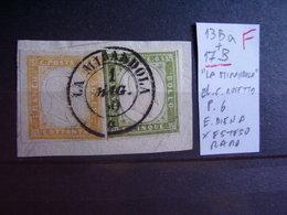 Sardegna. IV Emissione. 5 Cent Sassone 13. Interessanti Frammenti Descrizione. 22 Foto - Sardaigne