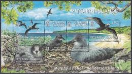 Pitcairn 2004 Tiere Fauna Animals Vögel Birds Oiseaux Pajaro Ave Uccelli Murphy-Sturmvogel Petrel, Bl. 37 ** - Briefmarken